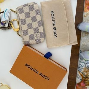 Authentic!!!  Louis Vuitton key pouch Damier Azur